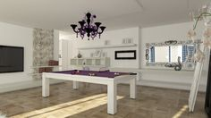 Billiard Table, Dinner Billiardo, Biliardo Tavolo - M 35 by MBM biliardi.