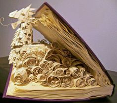 Celtic dragon book sculptures
