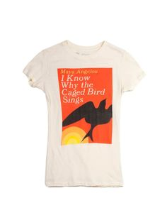 Look what I found from Out of Print! I Know Why the Caged Bird Sings women's book t-shirt – Out of Print