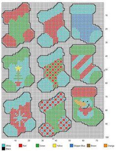Pinterest Christmas Plastic Canvas Patterns | STOCKINGS | Christmas ornaments…