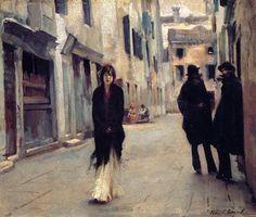 Street in Venice, John Singer Sargent