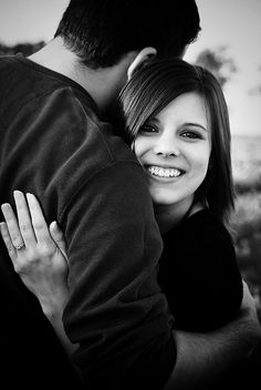 cute engagement pose-do this one but with me doing a fist pump saying YES ;)