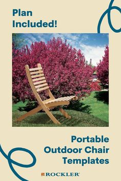 This chair comes apart into two curved halves that nest for easy transport and storage. Buy the optional stainless hardware convenience and durability! #CreateWithConfidence #Portable #OutdoorFurniture #Chair #WoodworkingPlans