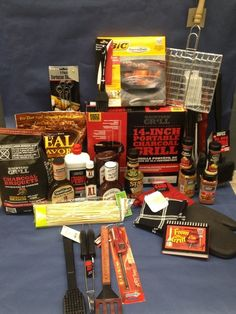 Auction item 'The Grill Master Theme Baskets, Raffle Baskets, Gift Baskets, School Auction Baskets, Silent Auction Baskets, Auction Projects, Auction Ideas, Craft Gifts, Diy Gifts