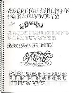 Chicano Lettering Alphabet Bj betts font