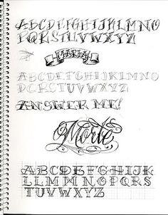Chicano Lettering Alphabet Bj betts font
