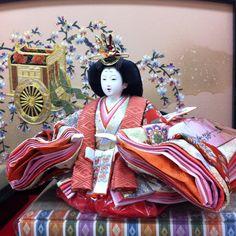Hina-ningyo Japan wahuku  Japanese Queen Doll