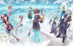 A Kingdom Hearts Tryptic Illustration. Kingdom Hearts Zitate, Kingdom Hearts Quotes, Kingdom Hearts Games, Kingdom Hearts Fanart, Kingdom Hearts Wallpaper, Heart Wallpaper, Overwatch, Sora And Kairi, Disney Crossovers