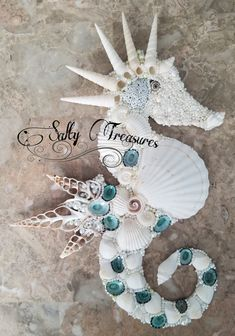 Seahorse Crafts, Seahorse Art, Sea Crafts, Seahorses, Baby Crafts, Paper Crafts, Seashell Ornaments, Seashell Art, Seashell Crafts