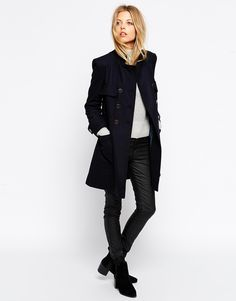Image 4 ofASOS Coat With Patch Pockets In A Line