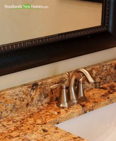 Beautiful #granite #countertops in the #kitchen and #bathrooms.