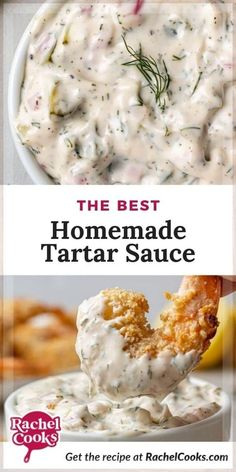 Homemade tartar sauce with lemon is so much fresher tasting than store bought and just plain easy to make. All this recipe takes is a little chopping, a squeeze of lemon and a grind of black pepper. Add all that to mayonnaise and it's ready to serve with all of your favorite seafood dishes. Just 6 ingredients and 5 minutes is all you need! Homemade Tartar Sauce, Sauce Recipes, Seafood Recipes, Cooking Recipes, Dip Recipes, Small Food Processor, Food Processor Recipes, Cream Corn Casserole