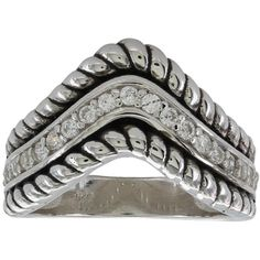 Roped Crown Ring (RG146-7) ($68) ❤ liked on Polyvore featuring jewelry, rings, crown ring, crown jewelry, rope ring and rope jewelry