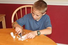 Soap Carving to learn the art of using a pocket knife. Use a softer soap, like Ivory to make carving easier. A potato peeler and wooden skewer were other suggested tools to use.