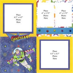 Buzz Lightyear Two Page Scrapbook Layout by lestreasures on Etsy