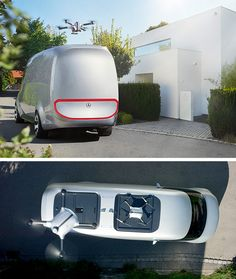 The electric Mercedes-Benz Vision Van finds various innovative solutions for last-mile delivery like the utilization of autonomously flying delivery drones.