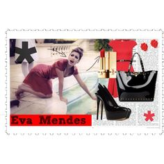 Eva Mendes, created by croquette on Polyvore