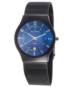 Skagen Titanium Marine Blue Dial Men's Watch
