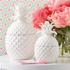 Two's Company Large Pineapple Jar With Lid - 11'' x 6'' $56 - also available in small