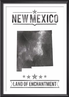 New Mexico State Typography Print