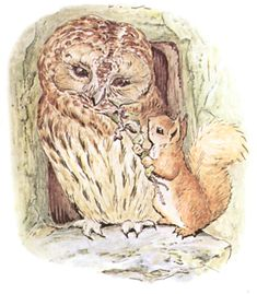 From the 1903 THE TALE OF SQUIRREL NUTKIN BY BEATRIX POTTER.