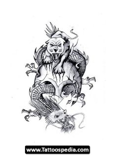 30 Best Tiger And Dragon Tattoo Designs Images Tiger Tattoo Design
