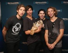 """Girls think that they have squads , I have a really mucked up band -Luke """" but Luke where with a puppy """"- Michael"""