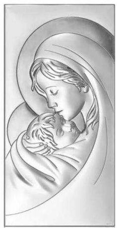 Aluminum Foil Art, Aluminum Can Crafts, Drawing Sketches, Art Drawings, Adorable Petite Fille, Pewter Art, Metal Embossing, Mary And Jesus, Madonna And Child