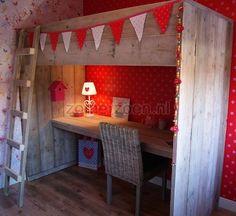 hoogslaper steigerhout Kidsroom, Loft, Furniture, Home Decor, Children, Bedroom Kids, Decoration Home, Room Decor, Child Room