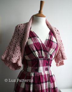 Crochet PATTERN  bolero crochet pattern women girls by LuzPatterns