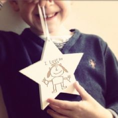 Your Childs Drawing Hanging Star
