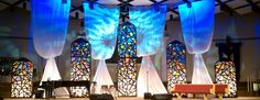 Stained Glass | Church Stage Design Ideas