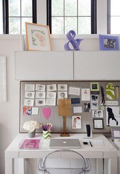 la idea de tener delante fotografías y un tablero para ir cambiando las notas, es lo que més me gusta de este espacio