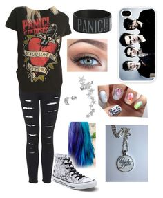 """Panic! At the Disco"" by emmy1312-loves1d ❤ liked on Polyvore featuring Topshop, Converse, Victoria's Secret and Mudd"