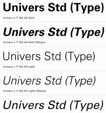 Univers by Adrian Frutiger and Alexei Chekulayev