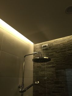 Shower with ceiling mood lights