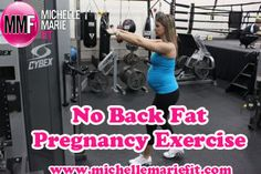 Great #pregnancy #exercise for the BACK FAT. I'm hoping this will just help strengthen my core.  My back is already killing me.