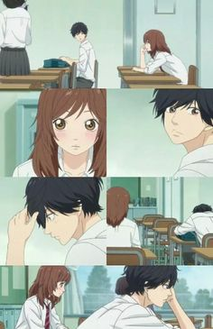 Find images and videos about anime and ao haru ride on We Heart It - the app to get lost in what you love. Anime Chibi, Kawaii Anime, Manga Anime, Anime Art, Sky Anime, Anime Love, Futaba Y Kou, Ao Haru Ride Kou, Blue Springs Ride