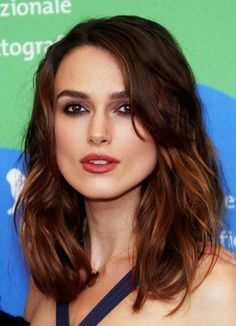 Keira Knightley - Hairstyles for Round Faces - StyleBistro
