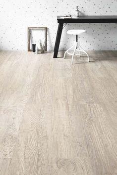 Sfeervolle vloer laminaat lodge taupe eiken - Meubilair storage zwart ...