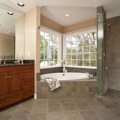 Corner Bathtub Design Ideas, Pictures, Remodel, and Decor - page 2