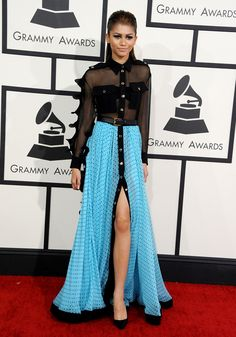At the 56th annual Grammy Awards.   - ELLE.com
