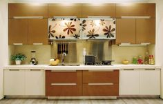 Kitchen:Beautiful Kitchen Design Idea Modern Home Kitchen Design Ideas With Whtie Cabinet Also Granite Countertop Also Sink And Faucet Also Panel Appliances Also Wall Cabinet Also Backspalses Also Drawers Also Marble