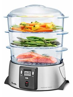 Time-Saving Kitchen EssentialsBreville HealthSmart Steamer: Put rice in the bowl and veggies on one of two trays, set the timer, and dinner's done