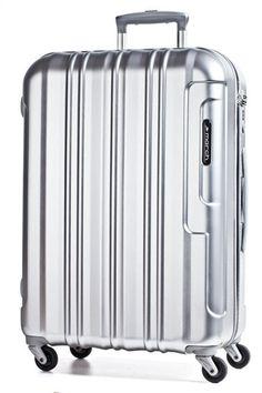 March cosmopolitan Cabin Trolley S 4W silver brushed alu look