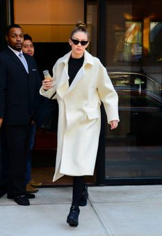 Model Gigi Hadid is seen walking in Soho on January 10 2018 in New York City