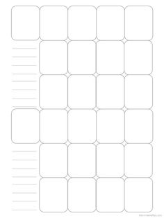 26-piece wardrobe template with room for notes