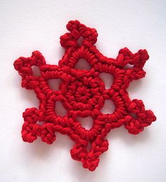 Christmas crocheted snowflakes Country Style cotton by swisscharme, $8.00
