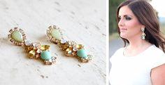 J Crew Inspired Crystal Earrings!