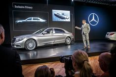 Gorden Wagener, Head of Design Daimler AG presenting the new Mercedes-Maybach S 600. [Mercedes-Maybach S 600 | Fuel consumption combined: 11.7  l/100km | Combined CO2 emission: 247 g/km]